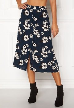 Happy Holly Frida button skirt Dark blue / Patterned Bubbleroom.eu