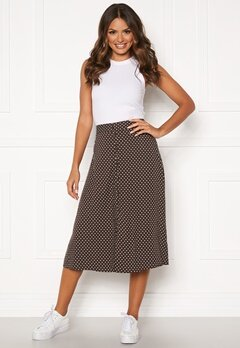 Happy Holly Frida button skirt Brown / Dotted Bubbleroom.eu