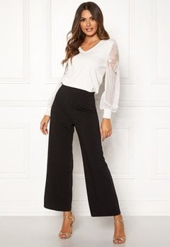Happy Holly Gabriella wide pants Black Bubbleroom.eu