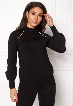 Happy Holly Genette sweater Black Bubbleroom.eu