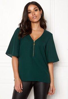 Happy Holly Hallie blouse Dark green Bubbleroom.eu
