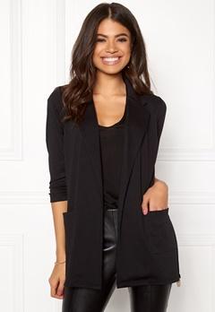 Happy Holly Hayley tricot blazer Black Bubbleroom.eu