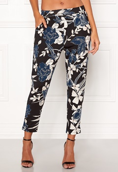 Happy Holly Hazel tricot pants Black / Patterned Bubbleroom.eu