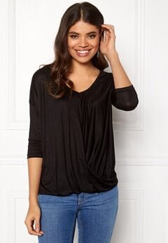 Happy Holly Hedda top Black Bubbleroom.eu