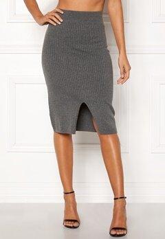 Happy Holly Henrietta knitted skirt Grey melange Bubbleroom.eu
