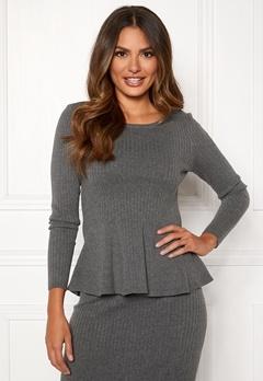 Happy Holly Henrietta sweater Grey melange Bubbleroom.eu