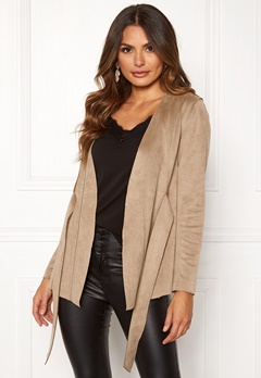 Happy Holly Ida suede look jacket Beige Bubbleroom.eu