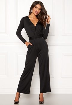 Happy Holly Iman ls jumpsuit Black Bubbleroom.eu