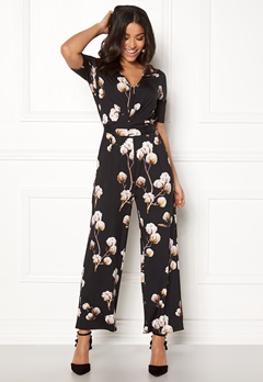 Happy Holly Iman ss jumpsuit Black / Patterned Bubbleroom.eu