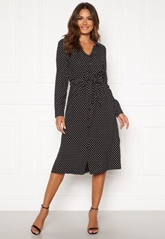 Happy Holly Iris Shirt dress Black / Dotted Bubbleroom.eu