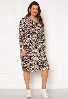 Happy Holly Iris Shirt dress Leopard Bubbleroom.eu