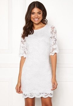 Happy Holly Jade lace dress White Bubbleroom.eu