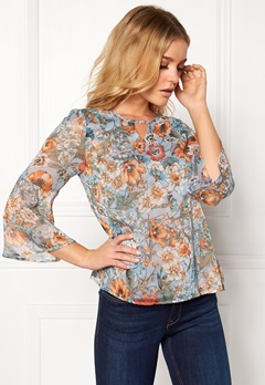 Happy Holly Janelle blouse Blue / Patterned Bubbleroom.eu