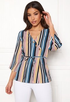 Happy Holly Jasmine blouse Striped Bubbleroom.eu