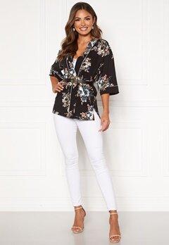 Happy Holly Jelena kimono blouse Black / Patterned Bubbleroom.eu
