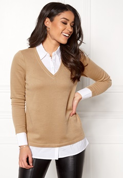 Happy Holly Jennifer top Beige / White Bubbleroom.eu