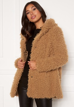 Happy Holly Jenny fur coat Camel Bubbleroom.eu