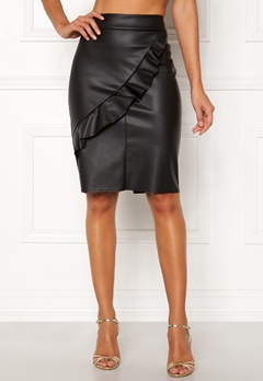Happy Holly Johanna PU skirt Black Bubbleroom.eu