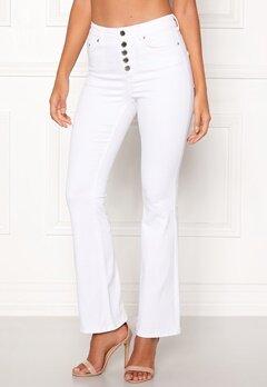 Happy Holly Josie bootcut jeans White Bubbleroom.eu