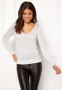 Happy Holly Joslyn lurex sweater Silver grey Bubbleroom.eu