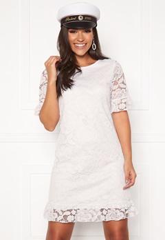 Happy Holly Julianne flounce lace dress White Bubbleroom.eu