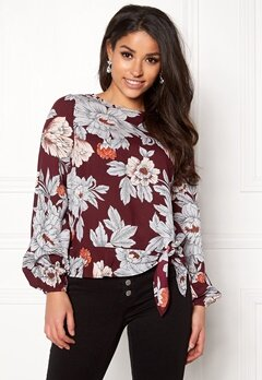 Happy Holly Kacy blouse Wine-red / Patterned Bubbleroom.eu