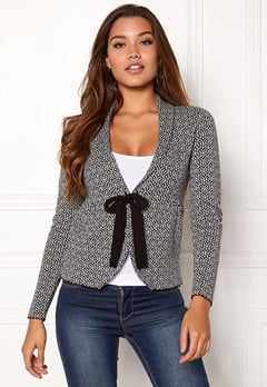 Happy Holly Kara cardigan Black / Offwhite Bubbleroom.eu