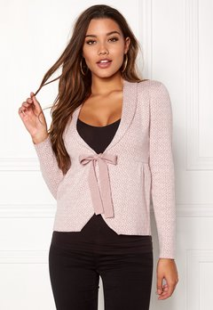 Happy Holly Kara cardigan Dusty pink / Offwhite Bubbleroom.eu