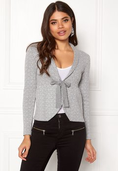 Happy Holly Kara cardigan Grey / Offwhite Bubbleroom.eu