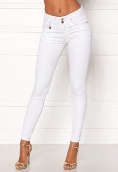 Happy Holly Karen jeans White Bubbleroom.eu