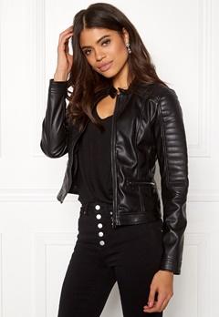 Happy Holly Keira pu jacket Black Bubbleroom.eu