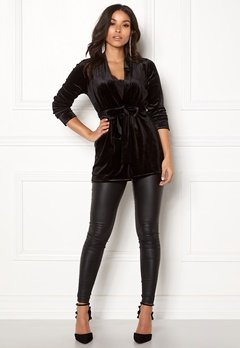 Happy Holly Kiara velour blazer Black Bubbleroom.eu