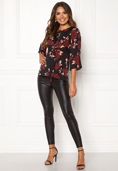 Happy Holly Kim top Black / Patterned Bubbleroom.eu