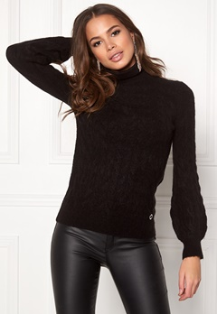 Happy Holly Kira cable knitted sweater Black Bubbleroom.eu
