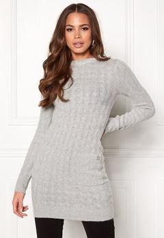 Happy Holly Kira cable sweater dress Grey melange Bubbleroom.eu