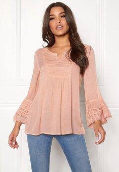 Happy Holly Kristel blouse Dusty pink Bubbleroom.eu