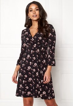 Happy Holly Laila dress Black / Patterned Bubbleroom.eu