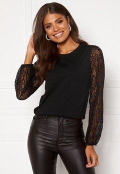 Happy Holly Laila lace sweater Black Bubbleroom.eu