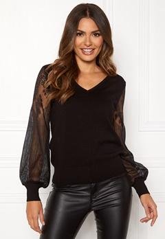 Happy Holly Laura sweater Black Bubbleroom.eu