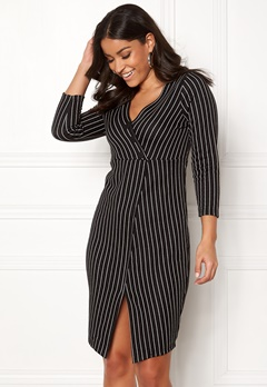 Happy Holly Lauren dress Black / Striped Bubbleroom.eu
