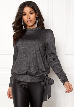 Happy Holly Lily lurex top Black / Silver Bubbleroom.eu
