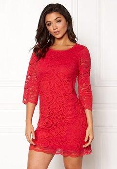 Happy Holly Lina lace dress Red Bubbleroom.eu