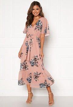 Happy Holly Linnea maxi dress Dusty pink / Patterned Bubbleroom.eu
