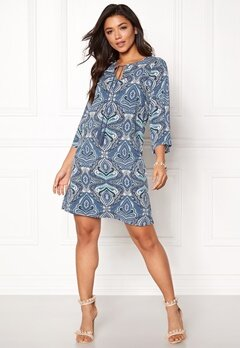 Happy Holly Livia dress Blue / Patterned Bubbleroom.eu