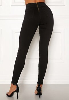 Happy Holly Lyra zip pants Black Bubbleroom.eu