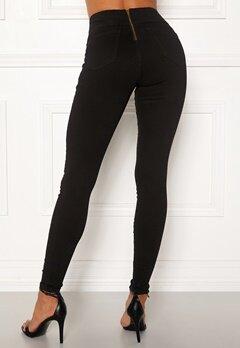 Happy Holly Lyra zip pants Black Bubbleroom.eu
