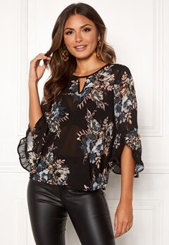 Happy Holly Madelyn Blouse Black / Patterned Bubbleroom.eu