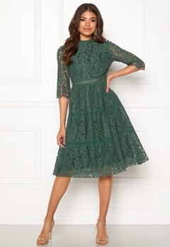 Happy Holly Madison lace dress Dusty green Bubbleroom.eu