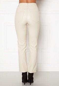 Happy Holly Maja coated pants Light beige Bubbleroom.eu