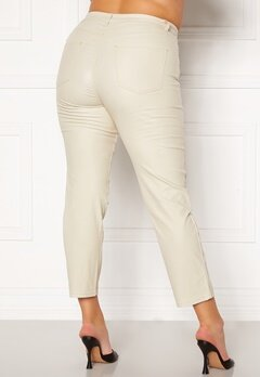 Happy Holly Maja coated pants Light beige Bubbleroom.eu
